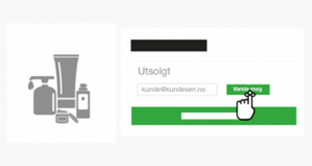 Lagervarsel på e-post